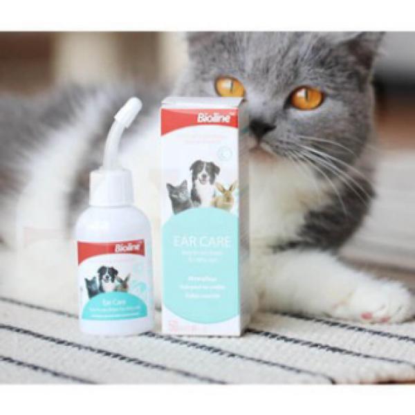 Nước Rửa Vệ sinh Tai Cho Chó Mèo Ear Care Bioline 50ml