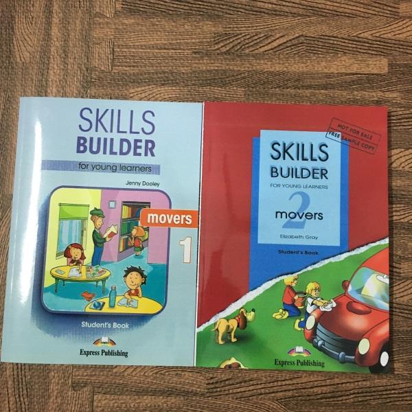 Mua Bộ Sách 2 quyển Skills Buulder Movers 1,2 ( in màu) - Hanoi bookstore