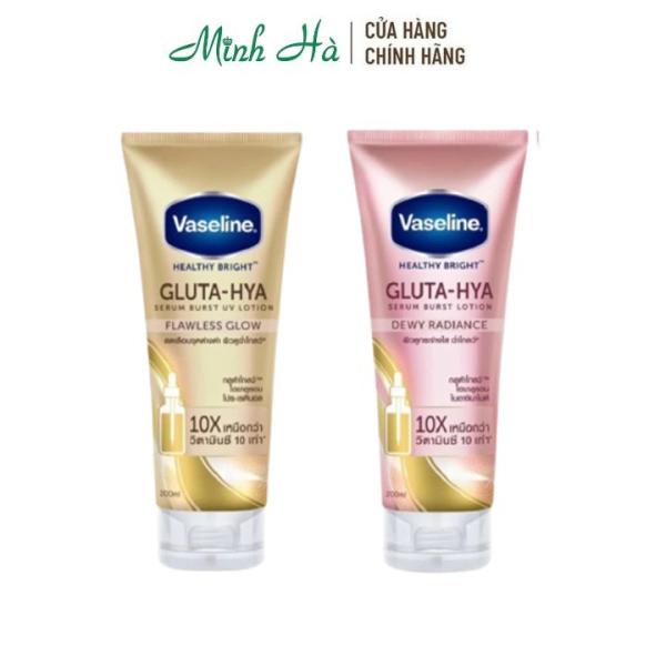 Sữa dưỡng thể trắng da Vaseline Healthy Bright Gluta HYA Serum Burst Lotion 10X Thái Lan 330ml giúp mờ thâm và làm đều màu da cao cấp