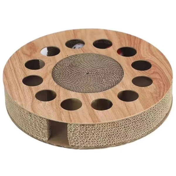 Cat Corrugated Scratching Board Round Toy Scratcher Bed Pad Protecting Furniture Cat Toy Funny Turntable for Pet Cat