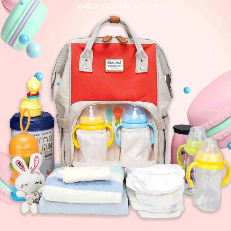 Balo bỉm sữa giữ nhiệt bình sữa đa năng 13 ngăn chống thấm nước đựng đồ cho mẹ và bé Dokoclub Mommy 12 Colors