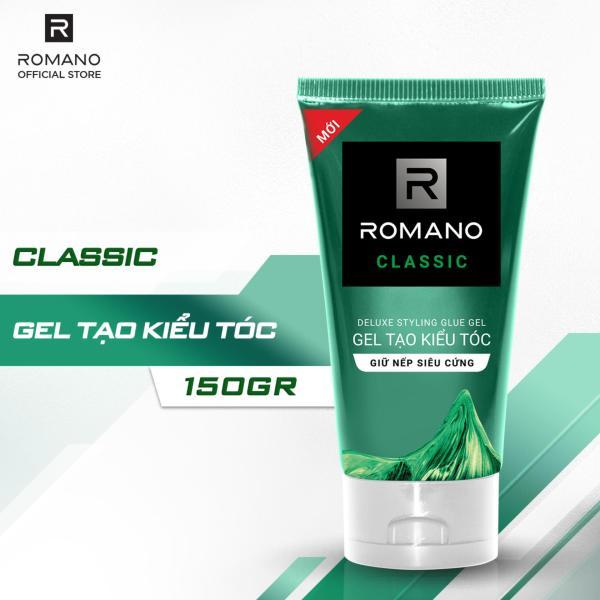 Gel tạo kiểu tóc cao cấp Romano Classic cổ điển lịch lãm tạo nếp siêu cứng 150gr giá rẻ