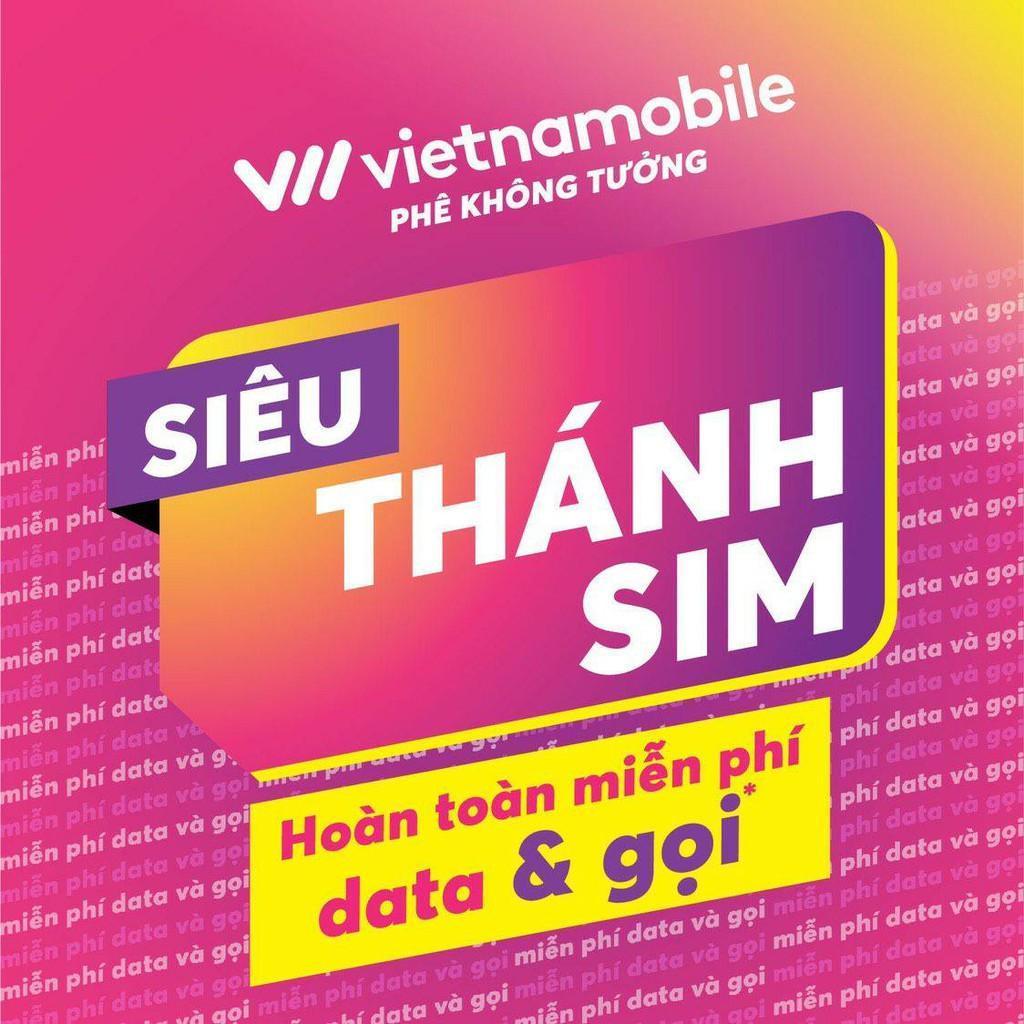 SIM 4G - Siêu Thánh sim 4G Vietnamobile - 120GB/tháng + Gọi và nhắn tin nội mạng miễn phí (Miễn phí tháng đầu)