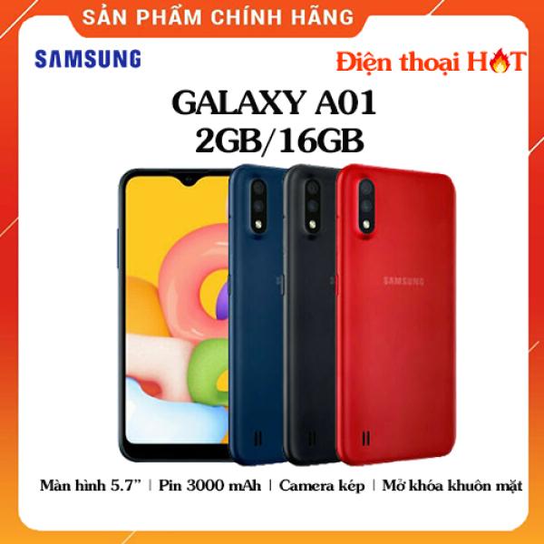 Điện Thoại Samsung Galaxy A01 ROM 16GB RAM 2GB - Chính hãng, Hàng mới 100%, Nguyên seal, Bảo hành 12 tháng [Điện thoại giá rẻ]