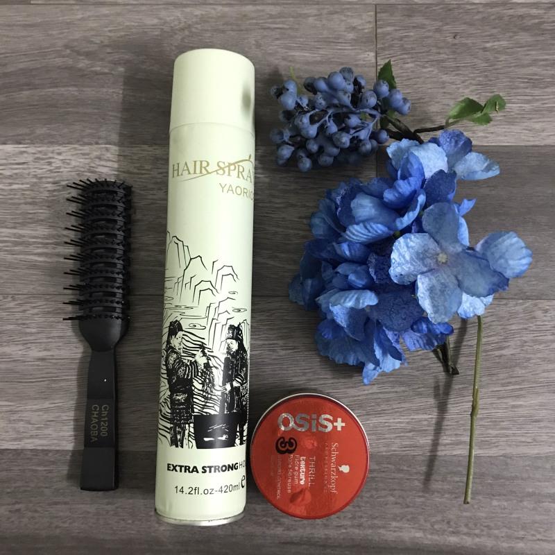 Combo 2 SP(Gôm xịt tóc Hair Spray+Sáp Vuốt Tóc Osis Thrill 3) giá rẻ