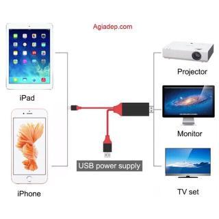 Cáp HDMI Kết Nối Điện Thoại Iphone Ra Tivi HD 3