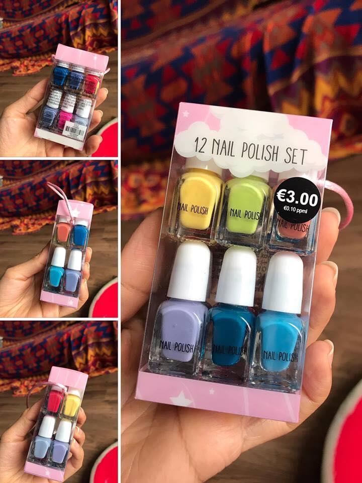 Set 12 màu sơn móng tay Pháp/UK cực kì an toàn cho bé cao cấp