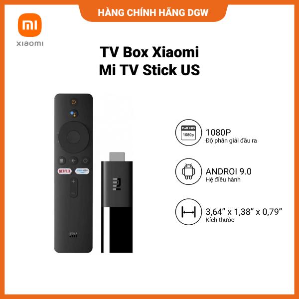 Bảng giá Hàng chính hãng Digiworld | TV BOX XIAOMI Mi TV Stick US | Tìm kiếm bằng giọng nói, hỗ trợ tiếng Việt | 1GB DDR4 | 8GB