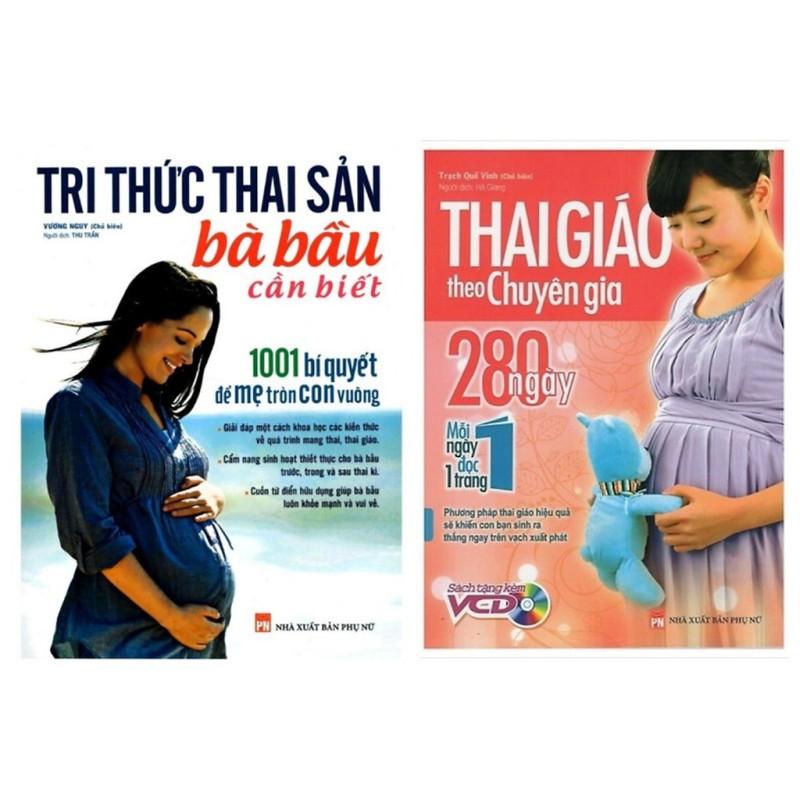 Sách - Combo Về Kiến Thức Mang Thai: Tri Thức Thai Sản Bà Bầu Cần Biết + Thai Giáo Theo Chuyên Gia