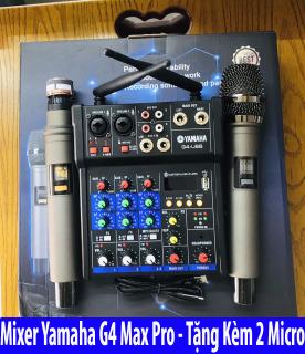 [ Xả Kho ] Combo Trọn Bộ Mixer Yamaha G4 Bluetooth - Tặng Kèm 2 Micro Không Dây ,Bàn Mixer G4 Live Stream Karaoke Xe Hơi Hỗ Trợ Màn Hình LED Có Bluetooth Dành Cho Loa Kéo - Âmly Dàn Hát Karaoke Gia Đình Âm . Bảo Hành 12 Tháng thumbnail