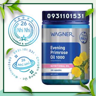 200 viên - Tinh dầu Hoa anh thảo Wagner Evening Primrose Oil 1000 200 Capsules thumbnail
