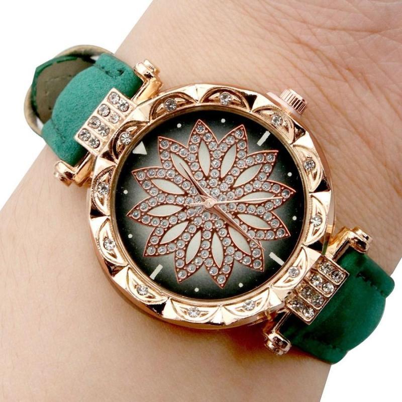 Nơi bán Đồng hò nữ Canđycat Đồng hồ nữ dây da Đồng hồ nữ đính đá  có bán kèm hộp đồng hồ giá 10k