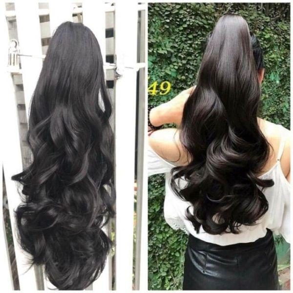 Tóc giả kẹp đuôi ❤FREESHIP❤ tóc giả ngoặm xoăn dợn dài mã n49