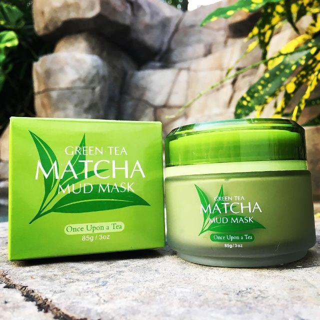 Mặt Nạ Bùn Trà xanh Laikou Matcha Mud Mask 5 Tác Dụng 85g
