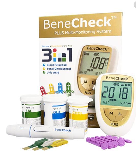 Nơi bán 💖 💖TRỌN BỘ Máy Đo ba chỉ số Benecheck: đường huyết, mỡ máu (cholesterol), Uric acid (gút/Gout), BeneCheck Plus, BH trọn đời