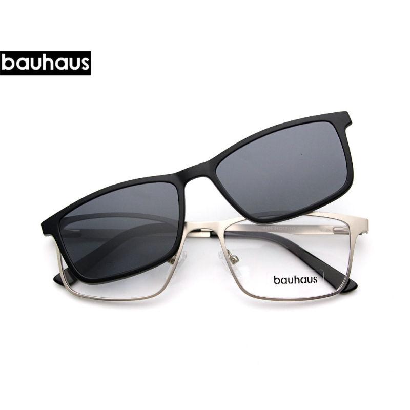 Giá bán X105 Bauhaus Nam Châm Kính Mát Kẹp Trên Kim Loại Gọng Kính Nam Phân Cực Tùy Chỉnh Đơn Thuốc Cận Thị Bán giỏi nhấthjhg