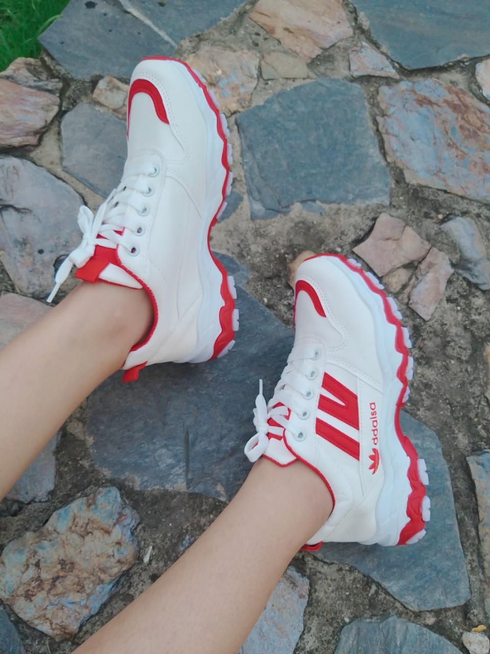 Giày thể thao nữ 3 màu (kiểu 2) sọc IV Nhật Bản