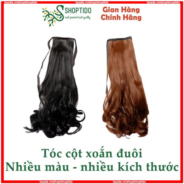 Tóc giả cột xoăn có đủ màu cao cấp, đủ size (38cm, 48cm, 58cm)