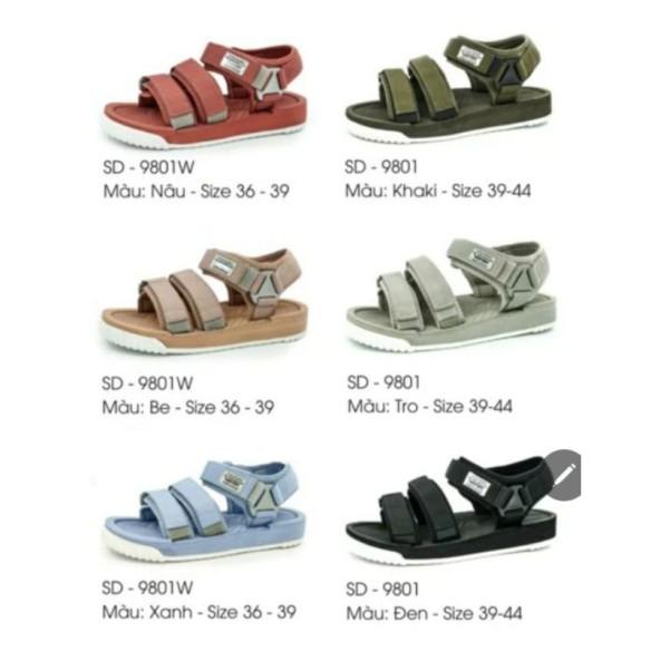 Sandal Vento Cao cấp SD9801 Hồng đậm/ xanh/ be giá rẻ