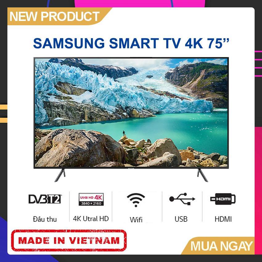 Bảng giá Smart TV Samsung 75 inch UHD 4K - Model 75RU7100 Bộ xử lý UHD Processor, UHD Dimming, Bluetooth, Youtube - Bảo Hành 2 Năm