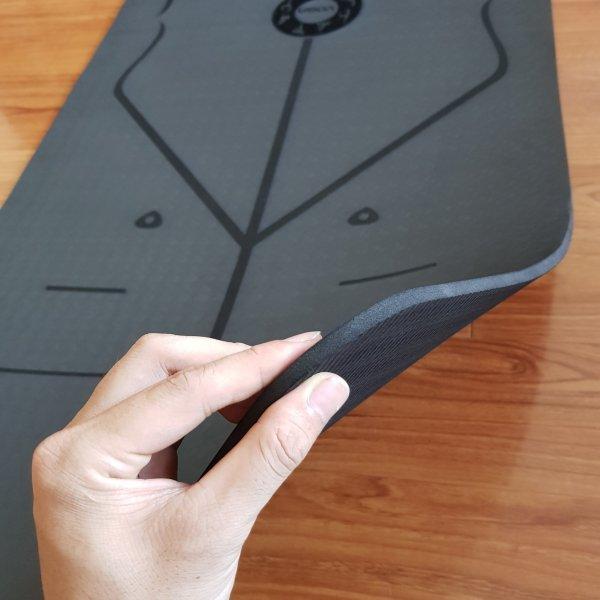 Bảng giá Thảm tập Yoga cao cấp có định tuyến - Chất liệu TPE, dày 8mm