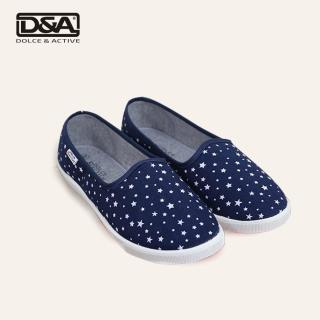 Giày slipon nữ siêu nhẹ D&A EPL1901 xanh in sao thumbnail