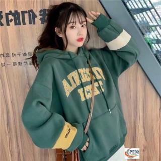 Áo Sweater, Hoodie Form Rộng Unisex Nam Nữ Chất Nỉ Ngoại Họa Tiết Chữ Basic Hàng Xuất Dày Đẹp, Không Xù Phối Màu Ống Tay Cực Đẹp LB403 thumbnail