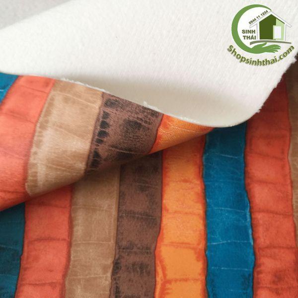 Vải da simili PVC - vải giả da may túi, làm dép, bọc ghế sofa - [ 1 mét x khổ 1,4m ] giả da cá sấu nhiều màu có vân