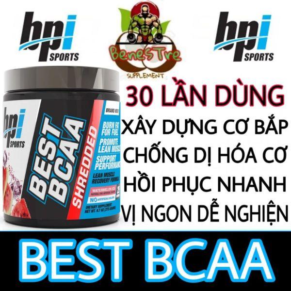 BPI BEST BCAA - PHỤC HỒI VÀ PHÁT TRIỂN CƠ BẮP (30 LẦN DÙNG)