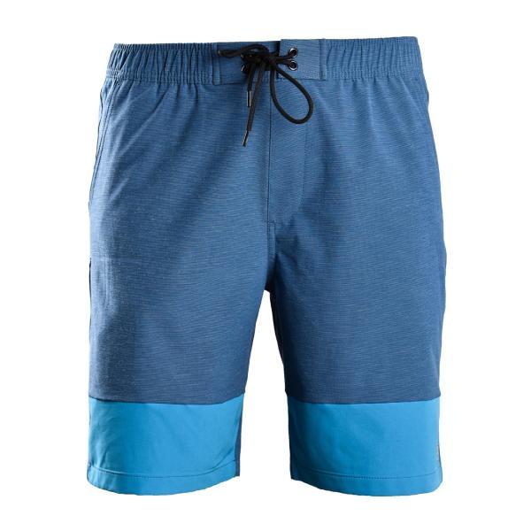 Quần short thể thao nam quần đùi thun nam polyester cao cấp Breli - BQS9012-1M-RTE1 (Xanh cổ vịt)