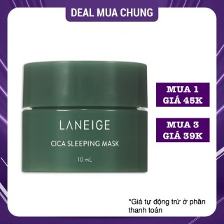 Mặt Nạ Ngủ Phục Hồi Da Laneige Cica Sleeping Mask 10ml thumbnail
