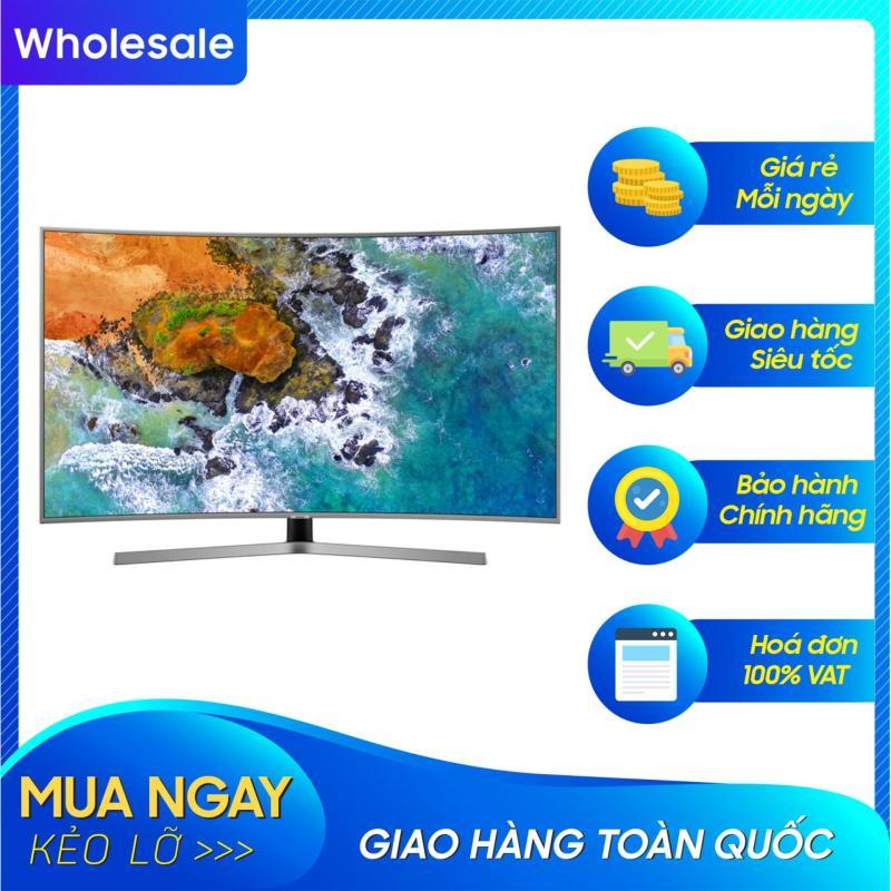 Smart TV Samsung LED màn hình cong 55 inch 4K Ultra HD - Model UA55NU7500 (Đen) (2018) - Công nghệ hình ảnh HDR, PurColour + Độ tương phản cải tiến UHD Dimming + Kết nối với thiết bị di động + Steam Link chính hãng