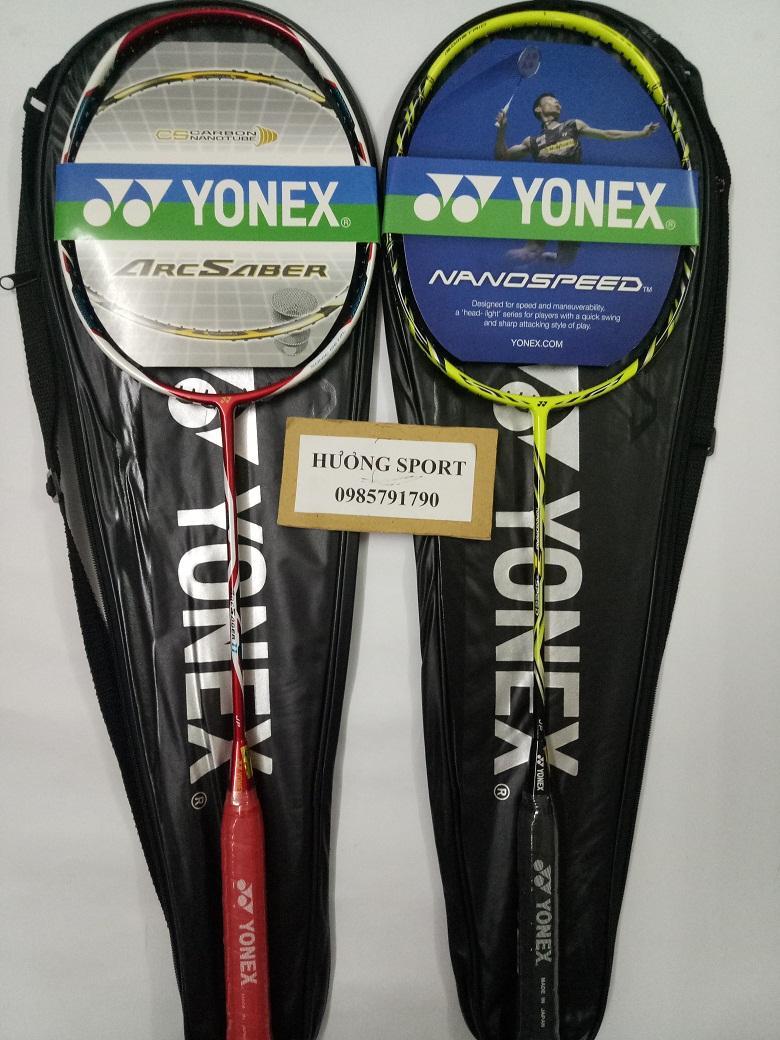 Bảng giá Combo 2 vợt cầu lông Yonex khung carbon - tặng căng cước, quấn cán, bao vợt