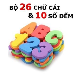 Đồ chơi nhà tắm trẻ em bộ chữ cái Tiếng Anh và số đếm thông minh bằng xốp nhiều màu sắc cho bé từ 1 đến 4 tuổi phát triển ngôn ngữ, phân biệt màu sắc và kích thích tư duy thumbnail
