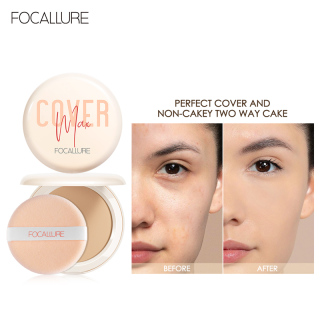 FOCALLURE matte foundation powder adds vitamin C and alkaline oils to the skin of the face thumbnail
