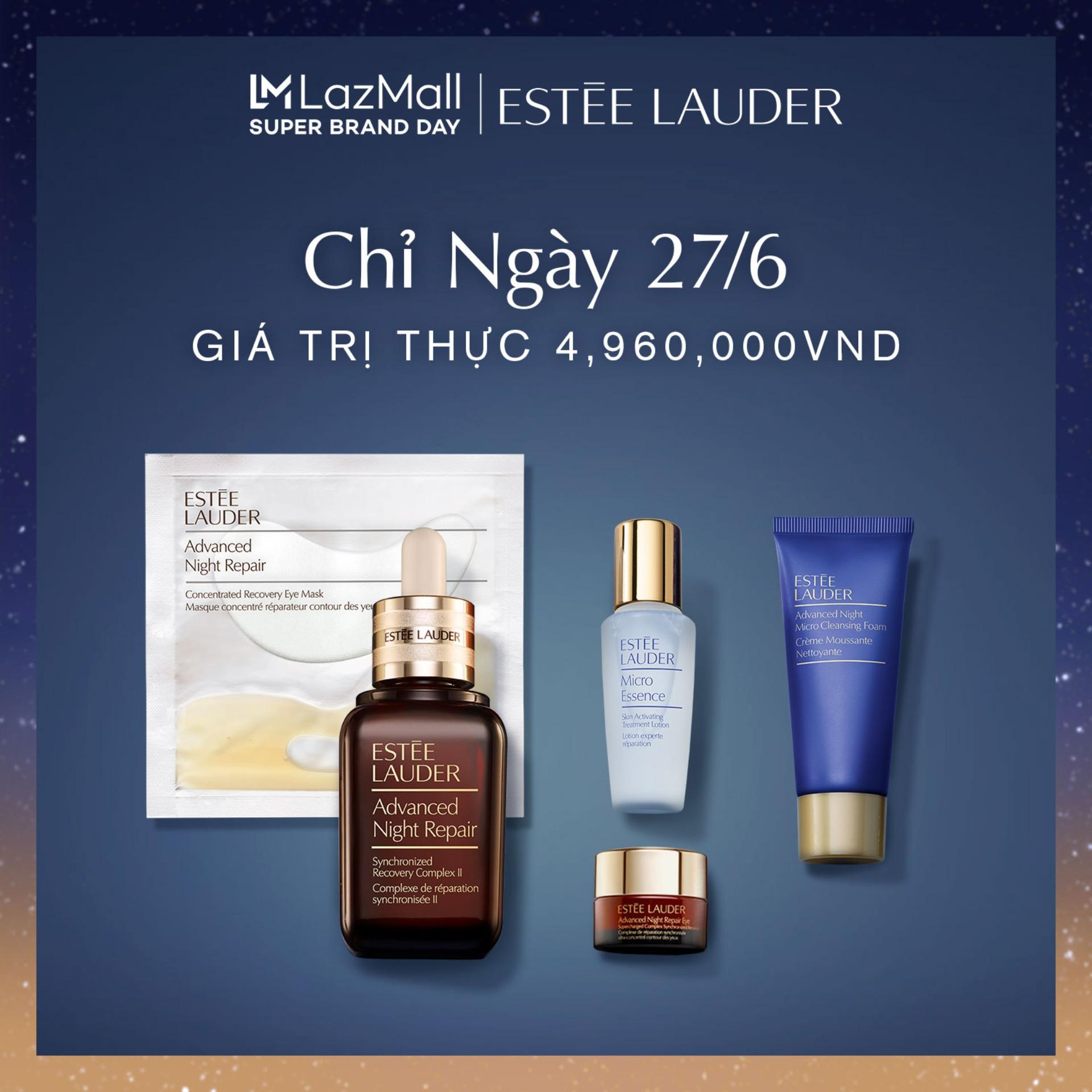 Bộ Dưỡng Da Làm Sạch + Phục Hồi Ban Đêm Night In + Purify Tinh chất phục hồi da Estee Lauder Advanced Night Repair Synchronized Recovery Complex II 50ml