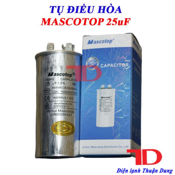 Tụ điều hòa MASCOTOP 25uF +5%, tụ CAPA quạt đuôi nóng, tụ CAPACITOR MASCOTOP