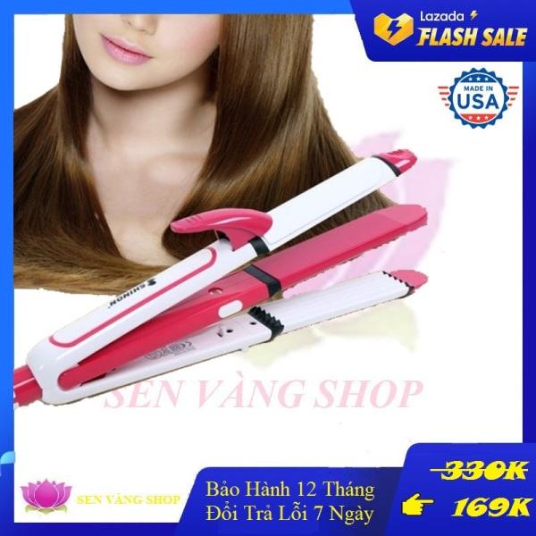 Máy ép tóc 3 trong 1, máy ép tóc cao cấp mini giá rẻ chức năng : dập xù - duỗi tóc - uốn tóc - là tóc - làm thẳng tóc - làm nóng nhanh sonar 710
