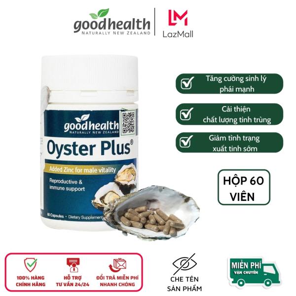 Tinh chất Hàu Goodhealth Oyster Plus, tăng cường sức khỏe, sinh lý nam giới, phân phối chính hãng, hôp 60 viên