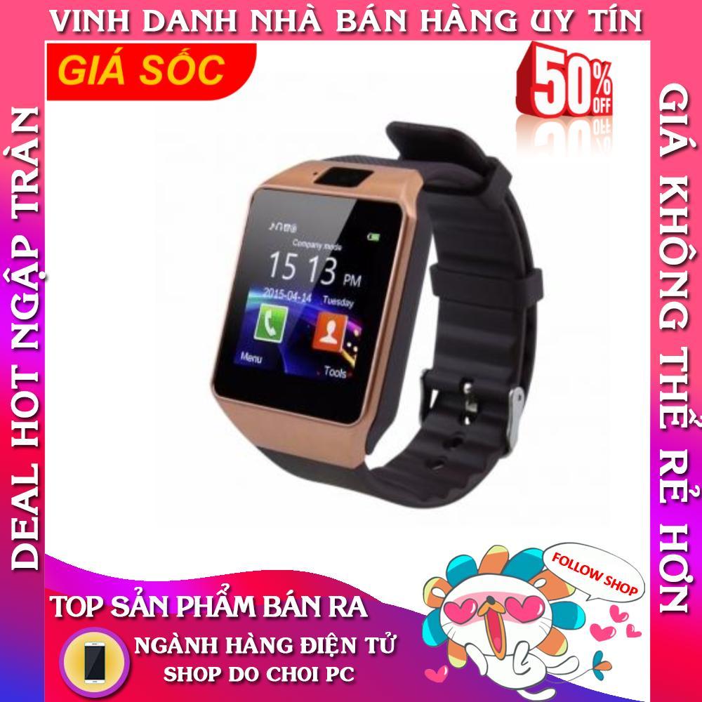 Đồng Hồ thông minh Smart Watch Uwatch DZ09 (Vàng)