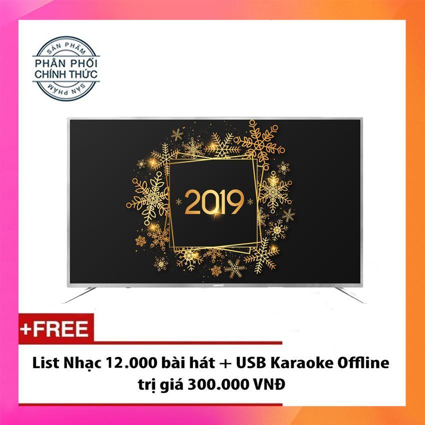 Bảng giá Smart Tivi LED Asanzo 65 inch Ultra HD 4K Voice Search - Model 65UV9(Bạc) Tìm kiếm bằng giọng nói, Tích hợp DVB-T2, Wifi
