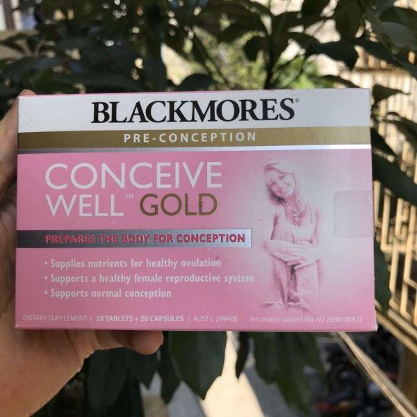 Viên uống tăng khả năng thụ thai - Blackmores Conceive Well Gold (56 viên) cao cấp