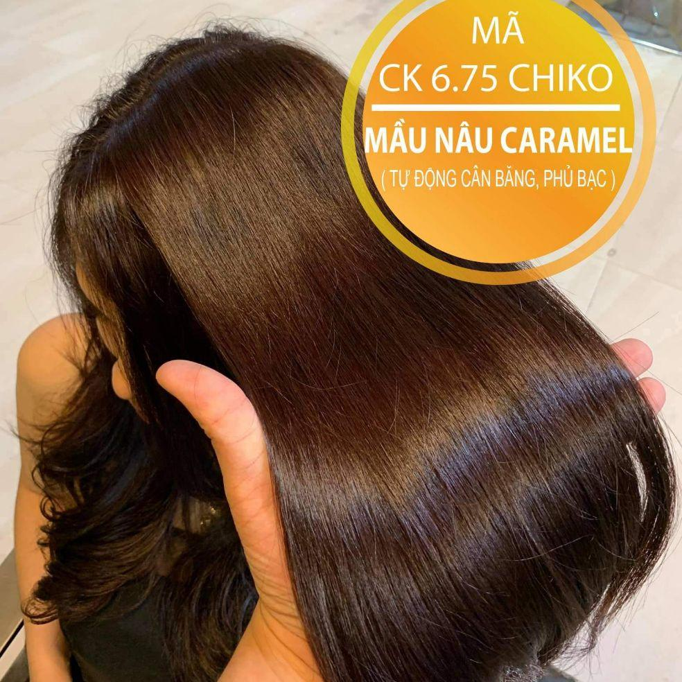 Nhuộm tóc màu Nâu Caramel - tặng trợ nhuộm