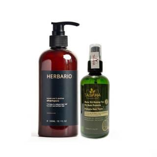 Bộ 1 chai xịt bưởi Pomelo Tabaha và 1 chai dầu gội vỏ bưởi bồ kết Herbario giảm rụng tóc, phục hồi hư tổn