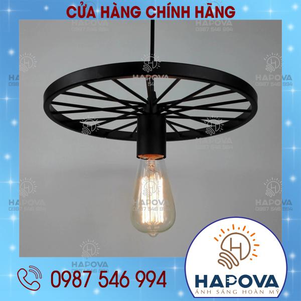 Đèn thả bàn ăn thả trần trang trí bánh xe HAPOVA 7089/1