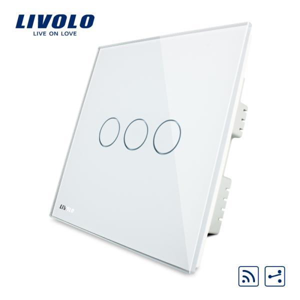 Công tắc tường từ xa LIVOLO 86 cho nhà RF433, công tắc đèn cầu thang 3gang 2way AC220-250V, 3 Màu không cần điều khiển từ xa