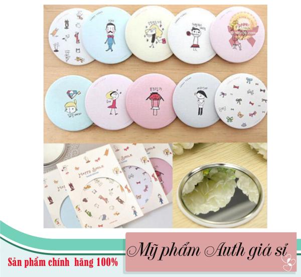 Gương mini siêu dễ thương, gương bỏ túi dễ thương, gương Hàn Quốc tiện  lợi cho đi học, đi chơi giá rẻ