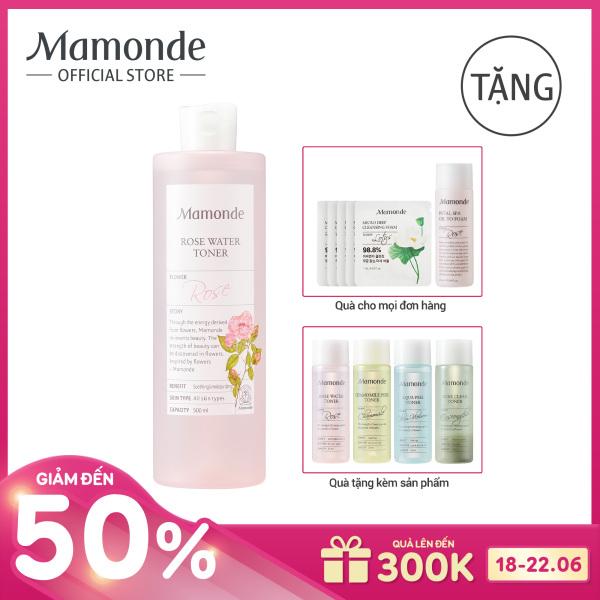 Nước hoa hồng cung cấp độ ẩm Mamonde Rose Water Toner 500ml tốt nhất