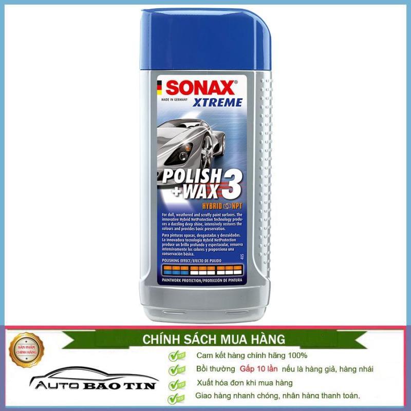 Đánh bóng, xóa xước sơn xe cho tất cả các màu sơn bóng Sonax Xtreme Polish Wax 3 250ml