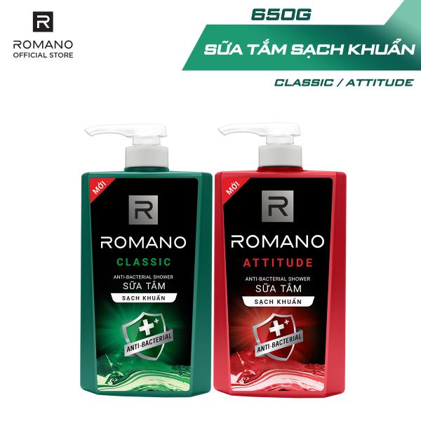 Sữa tắm sạch khuẩn Romano hương nước hoa 650g